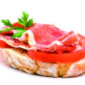 spanish ham and tomato